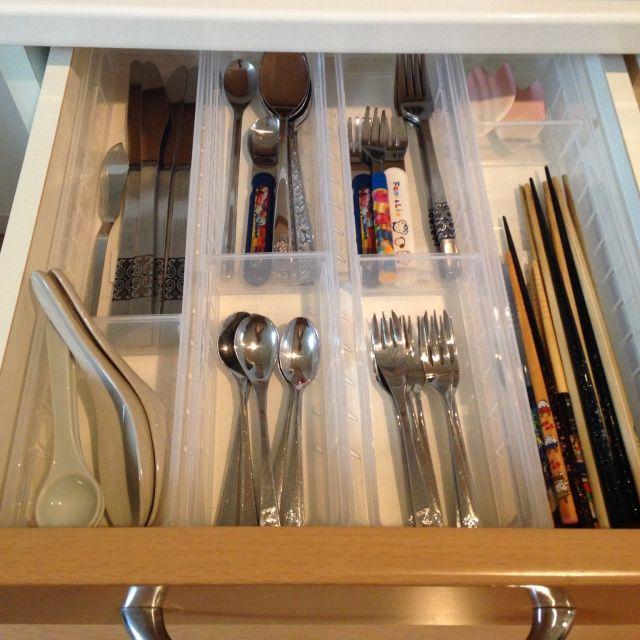 引き出し収納に大活躍 セリア ジョイントトレー が使える Flatware Tray Flatware Kitchen