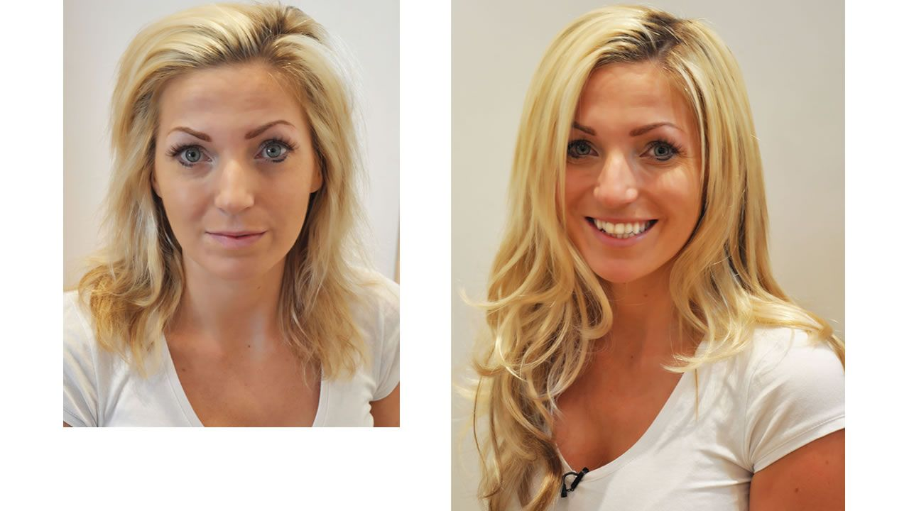 Hair Extensions Before And Afte Bleach Damaged Hair Before And