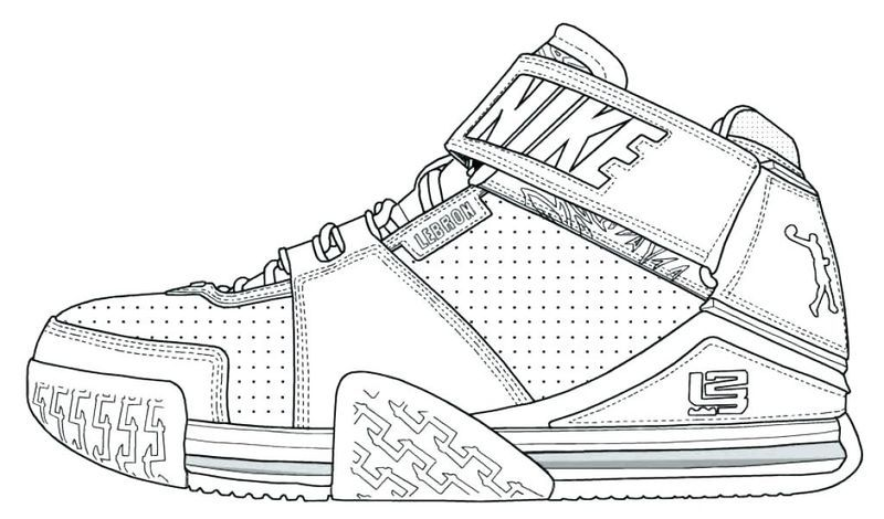 Pro Basketball Coloring Pages In 2020 Sneakers Lebron James Shoes James Shoes