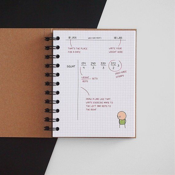 Fitness journal, workout planner, fitness tracker Products