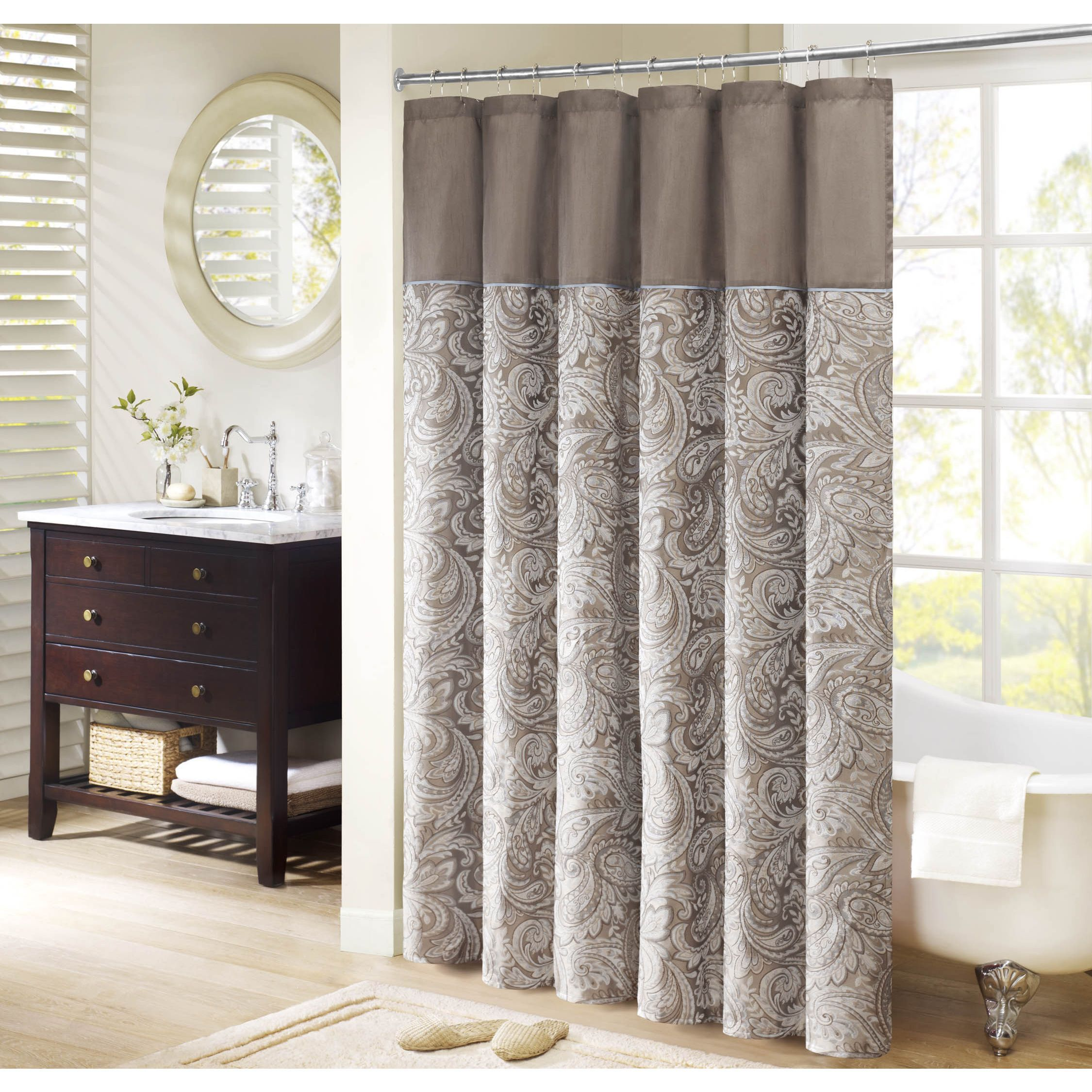 Madison Park Whitman Jacquard Shower Curtain With Images