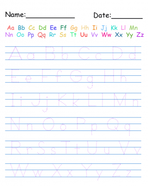 Trace Handwriting Worksheet! | Free Printable Worksheets ...