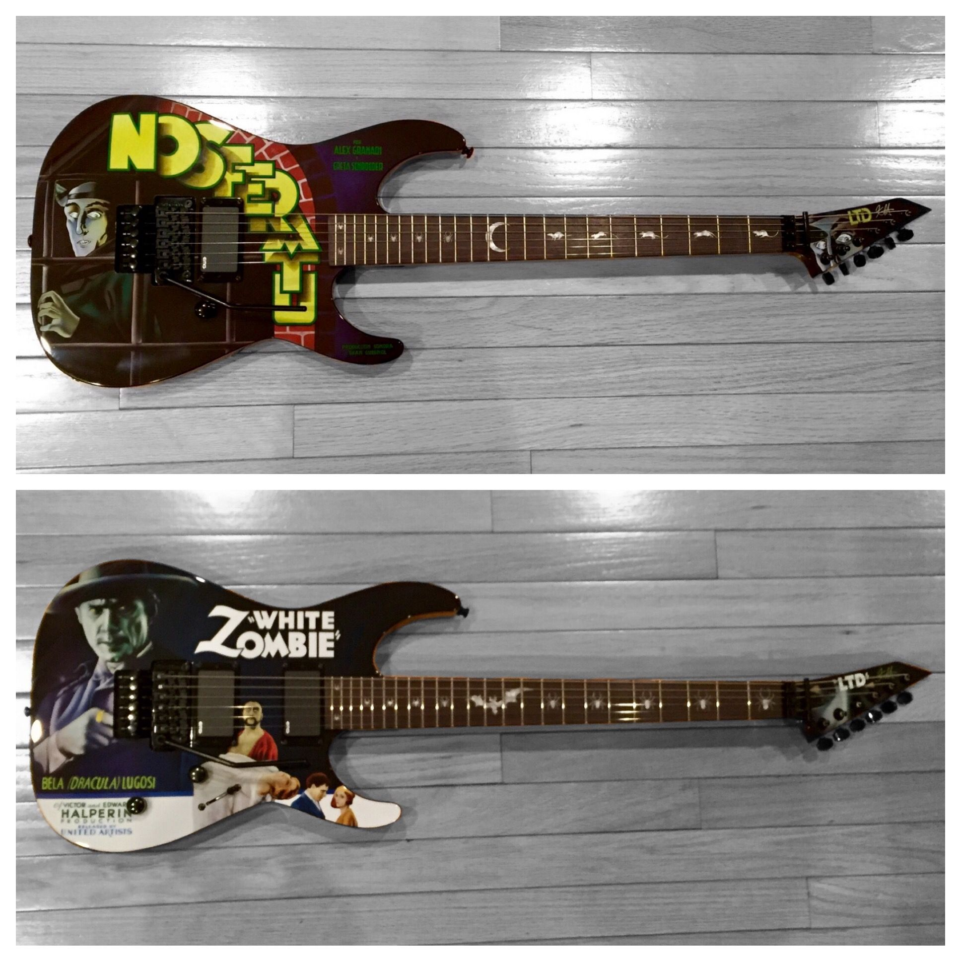 Kirk Hammett Metallica Esp Ltd Signature Guitars Nosferatu White Emg Pickup Wiring Diagram Zombie