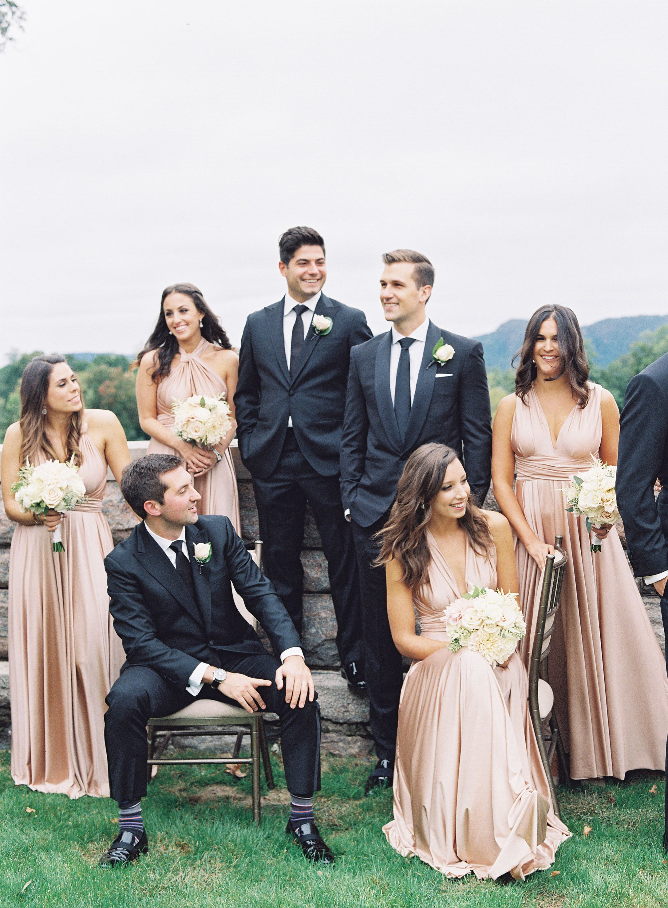 Rosewood rosegold twobirds bridesmaid dresses a real wedding rosewood rosegold twobirds bridesmaid dresses a real wedding featuring our multi way convertible ombrellifo Image collections
