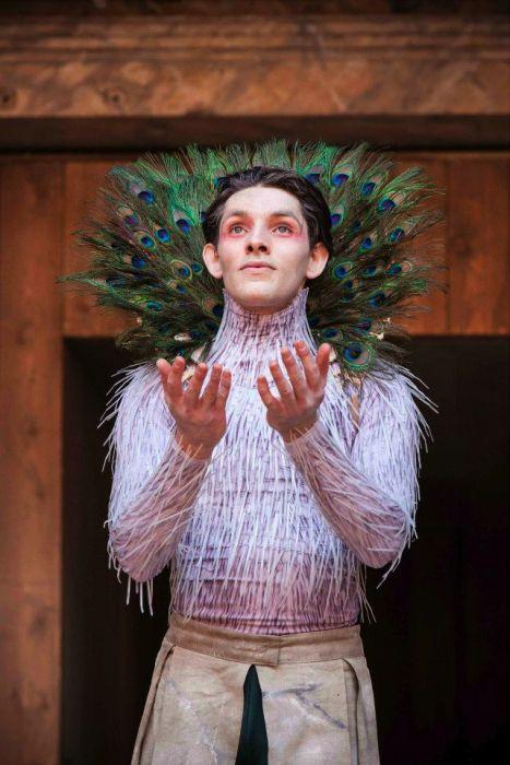 """Colin Morgan (Ariel) in """"The Tempest""""; Globe Theatre ..."""