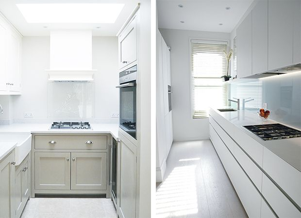 Left U Shaped Units Right Flat Finish Kitchen Home