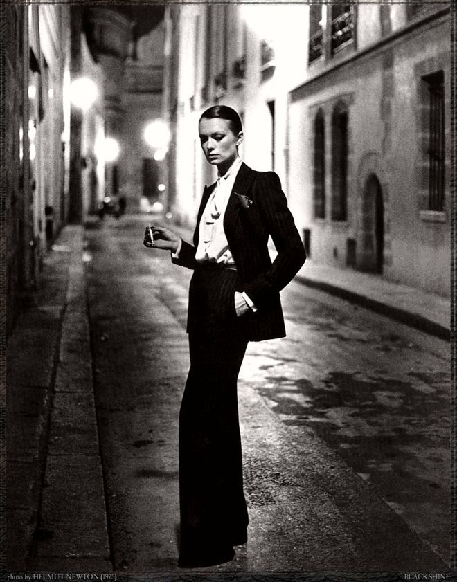 Helmut Newton #photography Apparently women in skinny tailored suits are in :-)