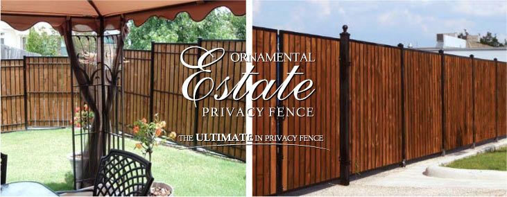 Estate Wood Iron Fence Fortress Fence Dream Home