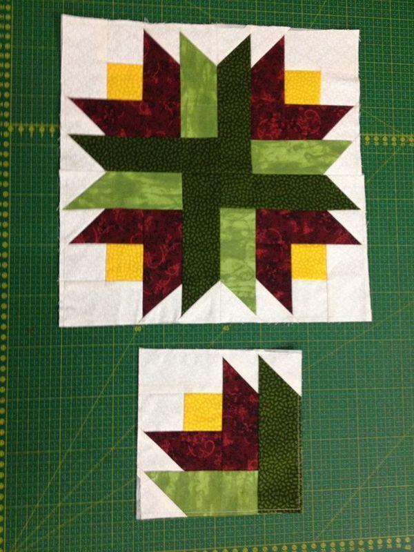 quilt block flower