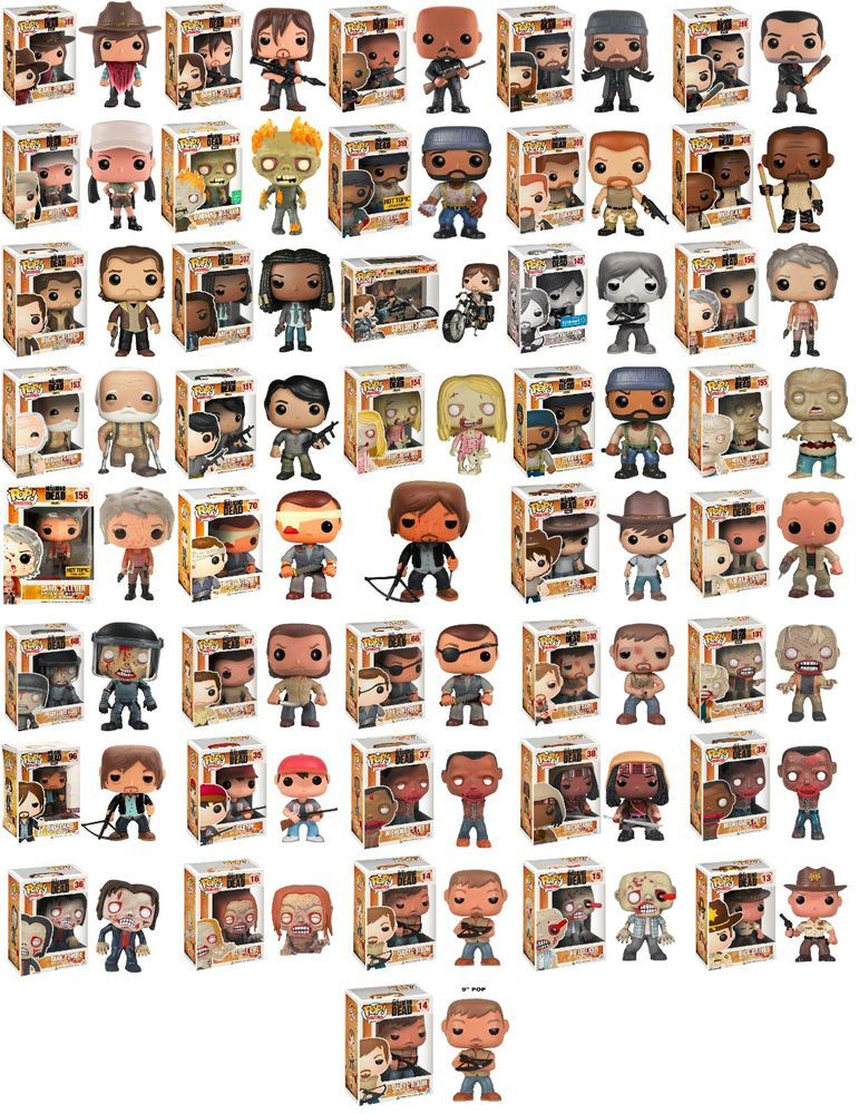 The Walking Dead Funko Pop Vinyl Figures Bundle 41 Figures Funko Pop Walking Dead Funko Pop Collection Pop Vinyl Figures