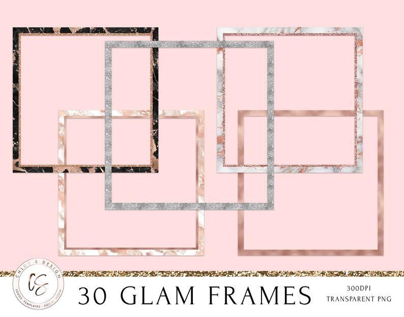 30 Glam Frames Glitter Frames Rose Gold Frames Silver Frames Gold Frames Glitter Frame Frame Gold Frame