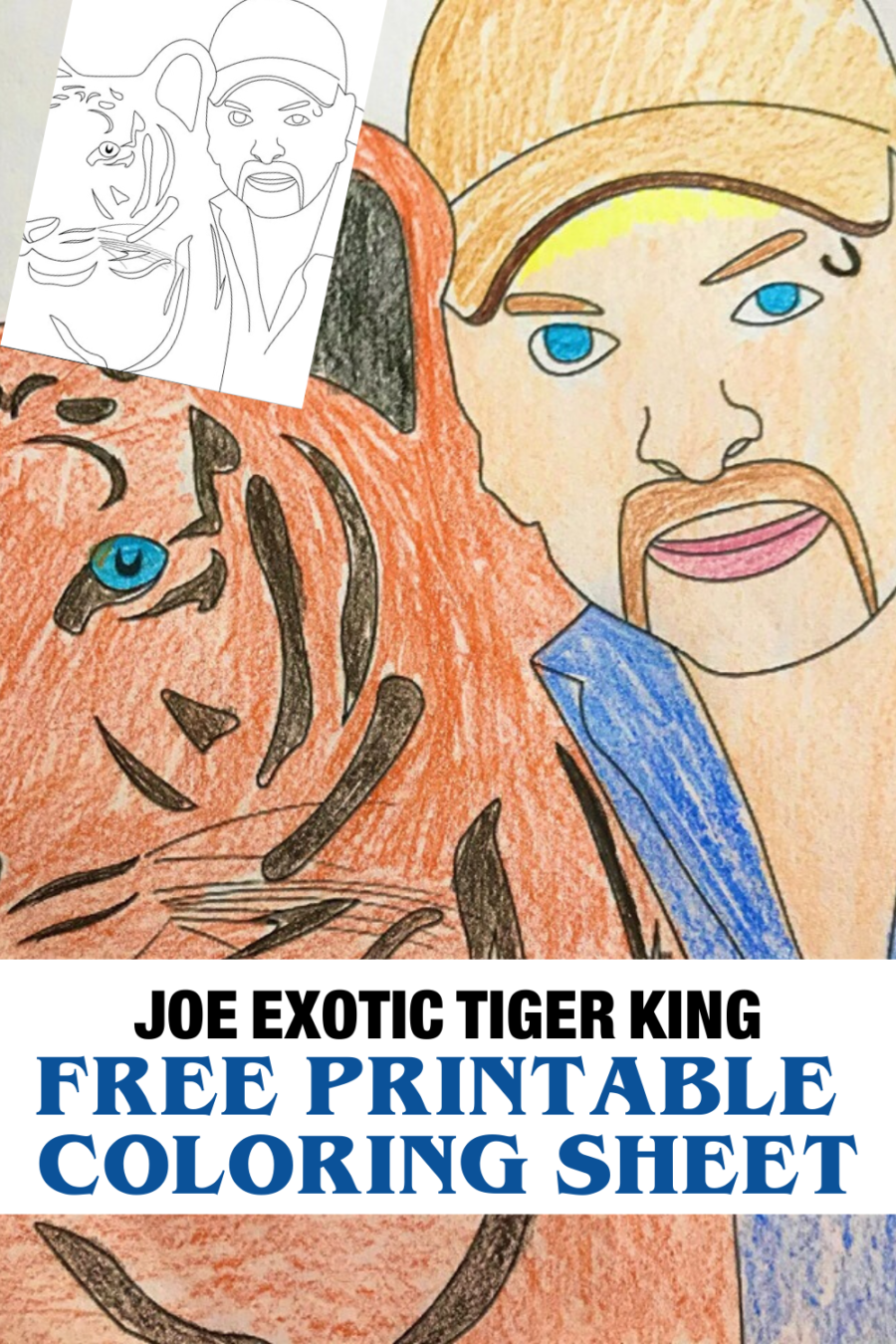 Free Netflix Tiger King Coloring Pages And Activities Birthday Coloring Pages Coloring Pages Free Printable Coloring Sheets