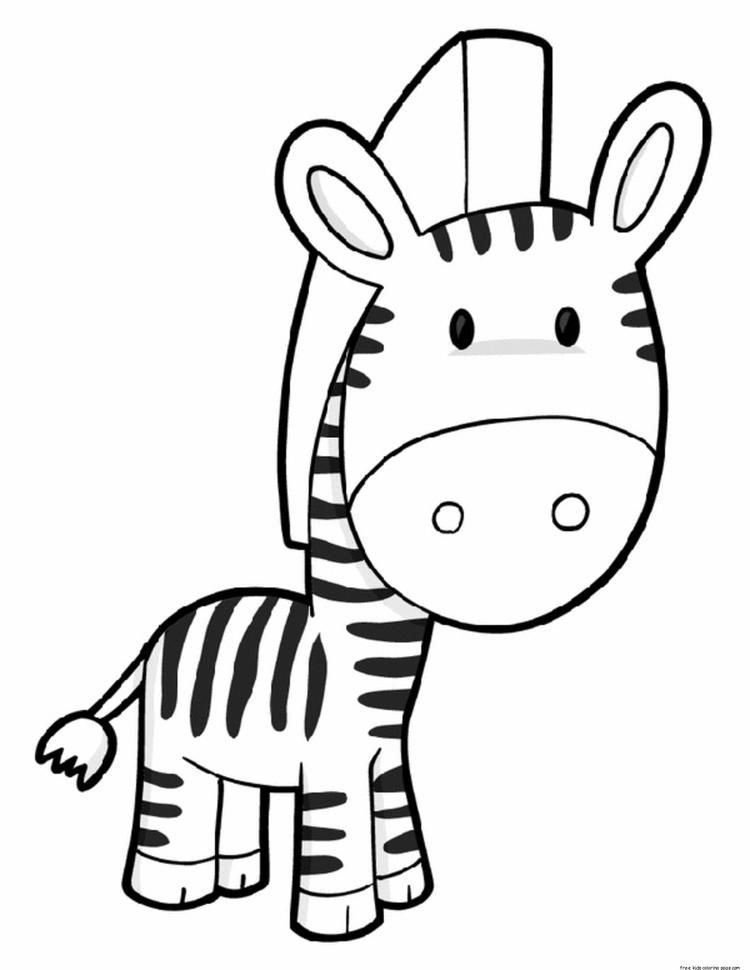 Printable Cute Zebra Coloring Pages Zebra Coloring Pages Preschool Coloring Pages Animal Coloring Pages