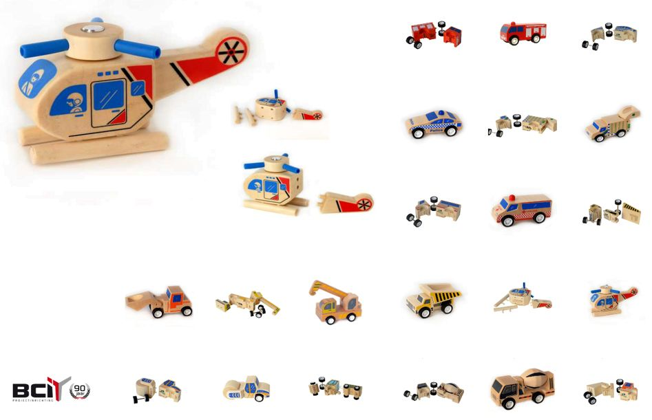 Houten speelgoed om de fijne motoriek te stimuleren, Click Clack