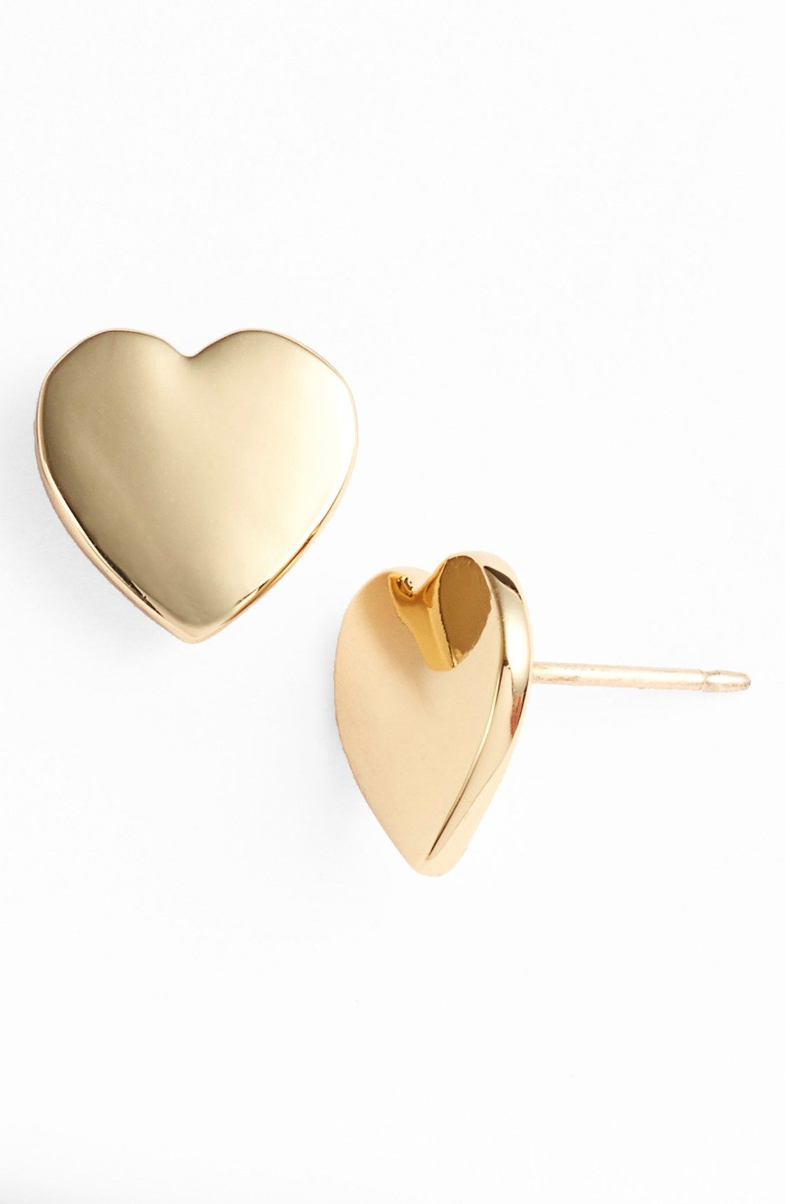 These Kate Spade Gold Heart Earrings Are So Cute