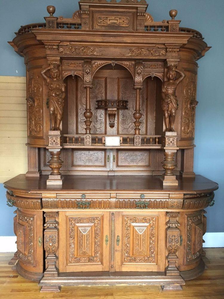 Best Antique German Hand Carved Cabinet 1835 Antique 640 x 480