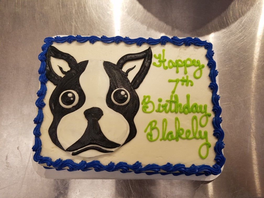 Boston Terrier Cake Bostonterrier Dog Birthday