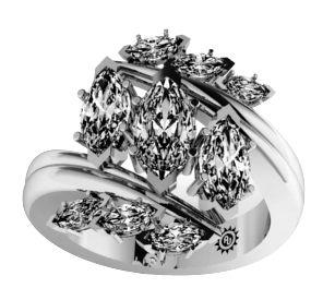 2.61 Carat Taliyah Diamond 14Kt White Gold Engagement Ring - Fashion