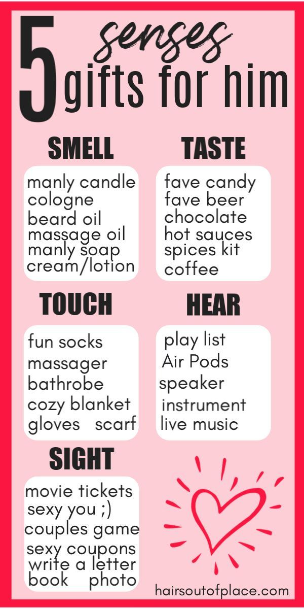 5 Senses Gifts for Him