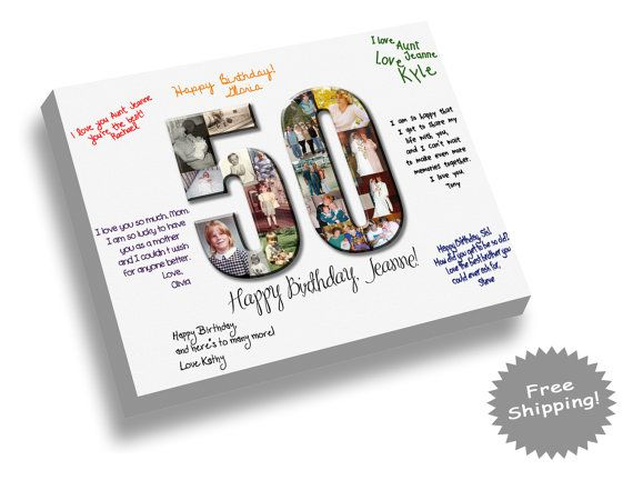birthday guest book canvas print any number signature canvas