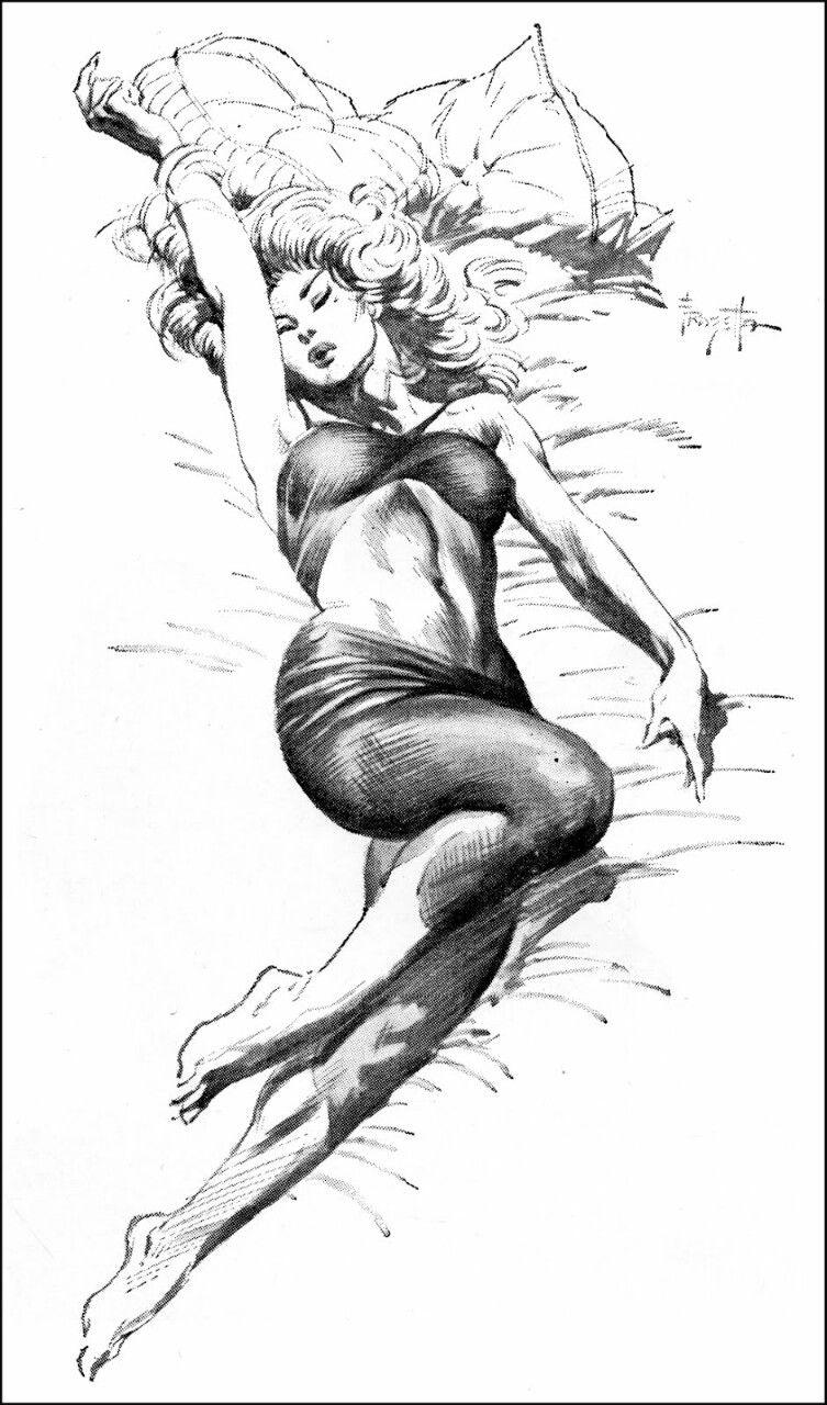 'Stretched Lazily' by Frank Frazetta