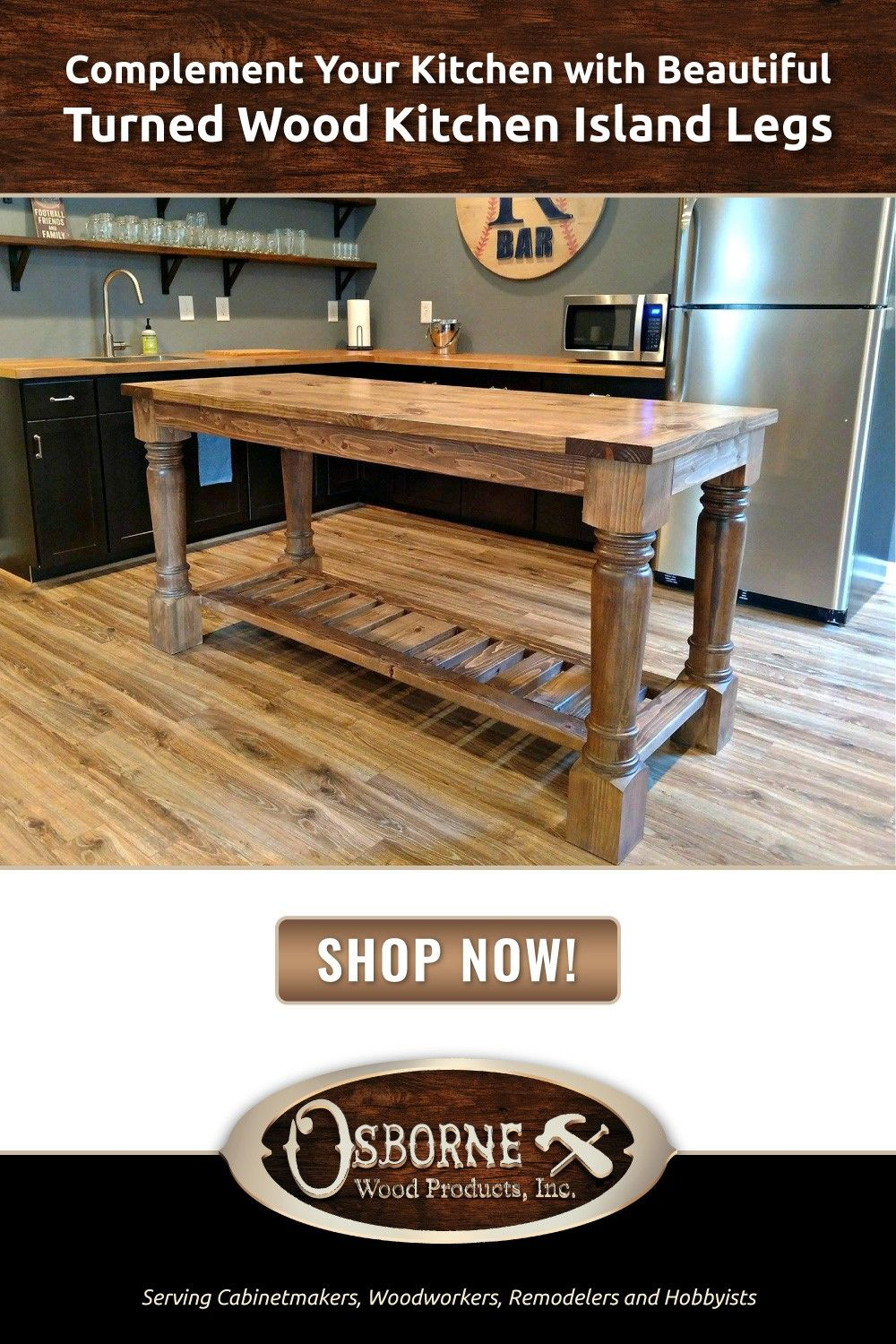 Pin By Osborne Wood Products On Barn Kitchen In 2020 Kitchen Island Table Wooden Kitchen Wood Kitchen Island