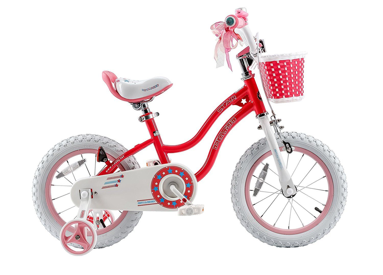 Amazon Com Royalbaby Stargirl Girl S Bike With Training Wheels And Basket Perfect Gift For Kids 12 Inch 1 Kids Bike Bike With Training Wheels Bicycle Girl
