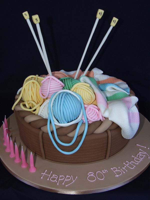 Knitting Birthday Cake Ideas : Cakes for those who sew quilt knit or crochet