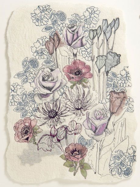 exquisite floralinspired textiles from rosemary rose is part of Floral textile - Exquisite floralinspired textiles from Rosemary Rose    Natureart Textiles