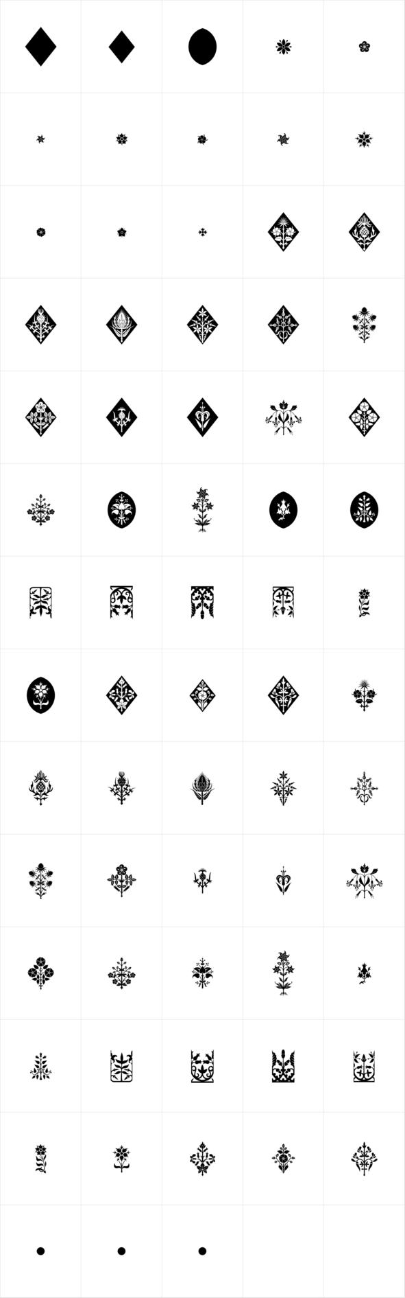 Gothic Herbarium Gothic, Dingbat fonts, Graphic design