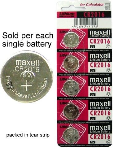 Maxell Cr2016 3 Volt Coin Lithium Cell On Tear Strip 3v