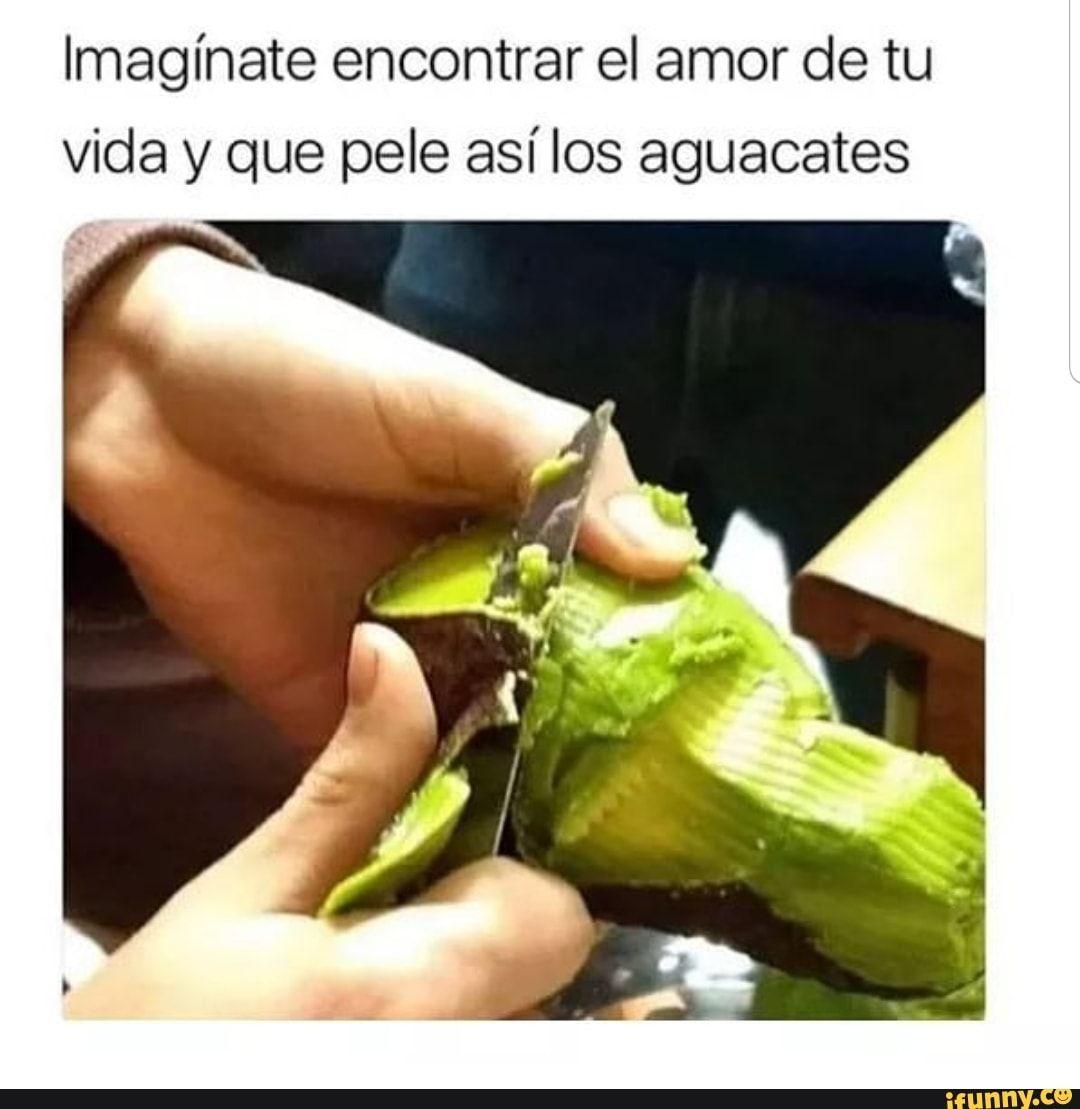 Imaginate Encontrar El Amor De Tu Vida Y Que Pele Asi Los Aguacates Ifunny Funny Spanish Memes Cute Memes Memes
