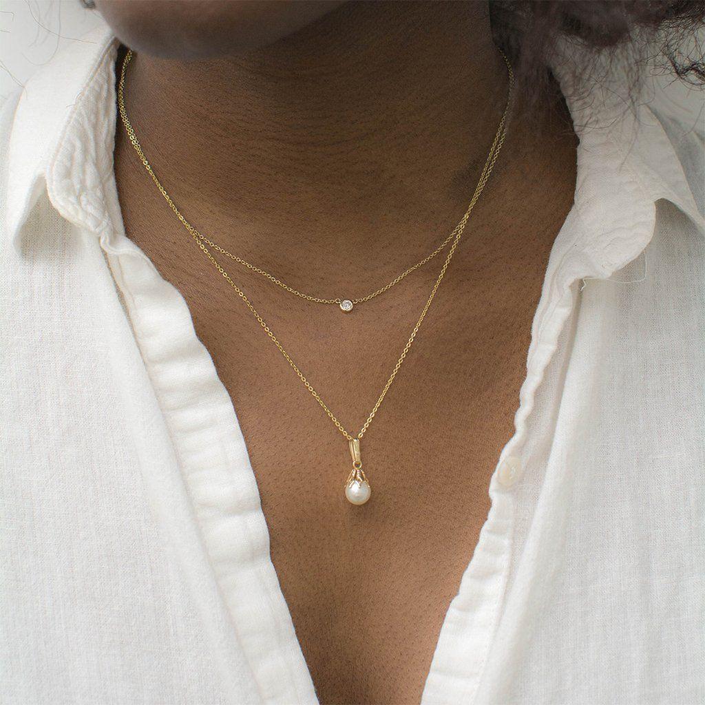 Delicate Pearl Drop Necklace   Delicate necklace, Pearl drop ...