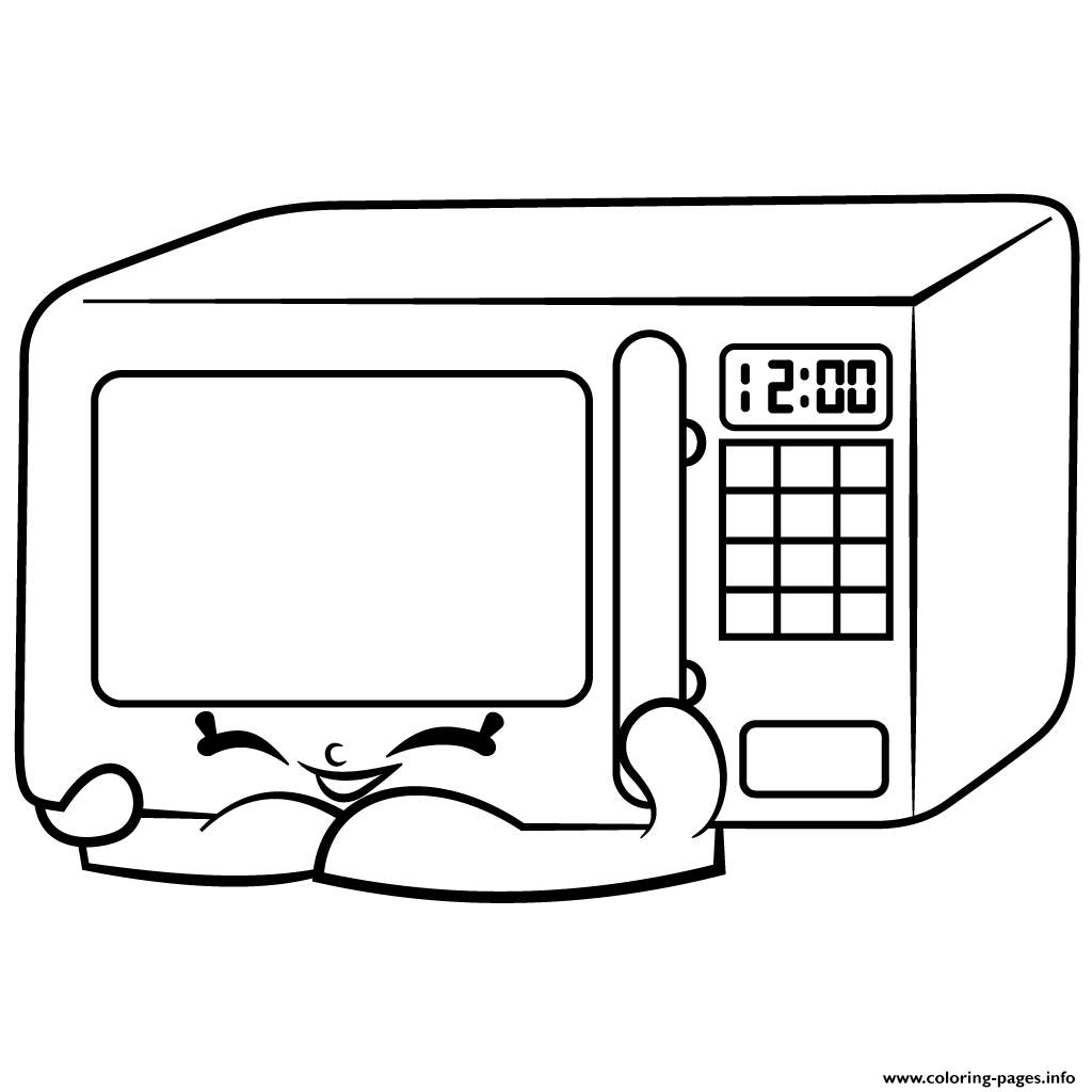 Zappy Microwave Homewares Shopkins Season 2 Coloring Pages Printable And Book To Print For Free Find More Online Kids