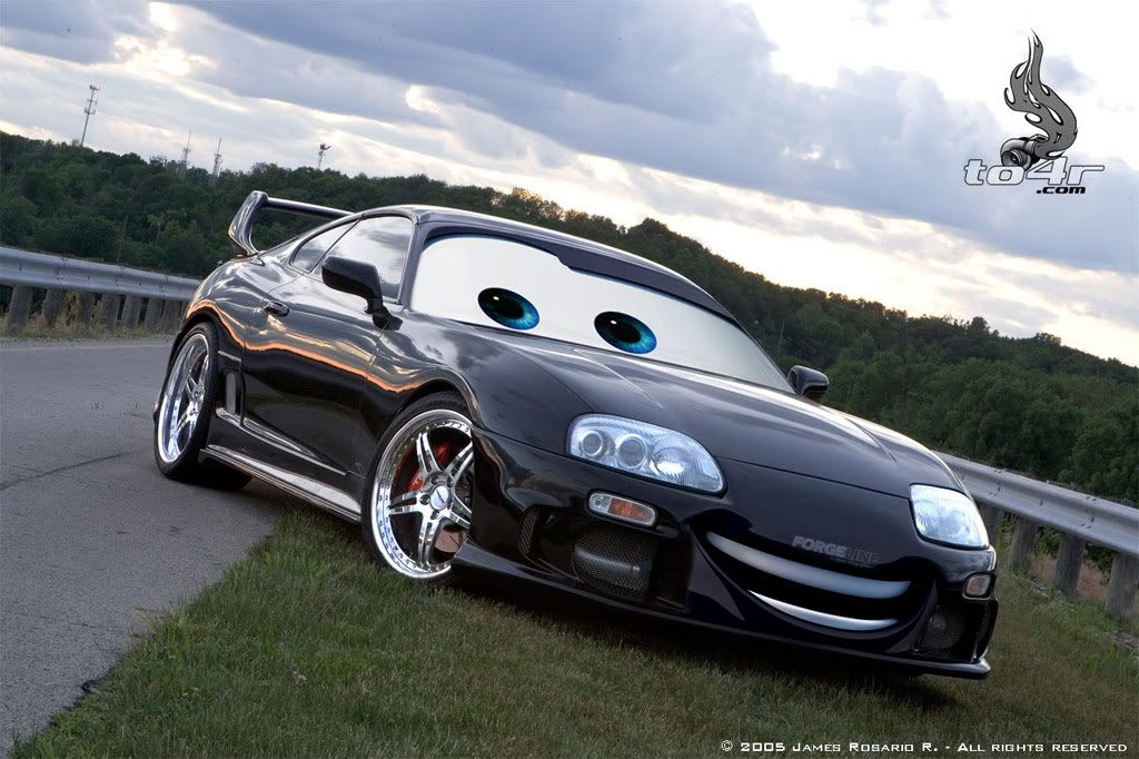 Pixarized Cars Toyota Supra Mark Iv Cars Movie Cars Disney Cars