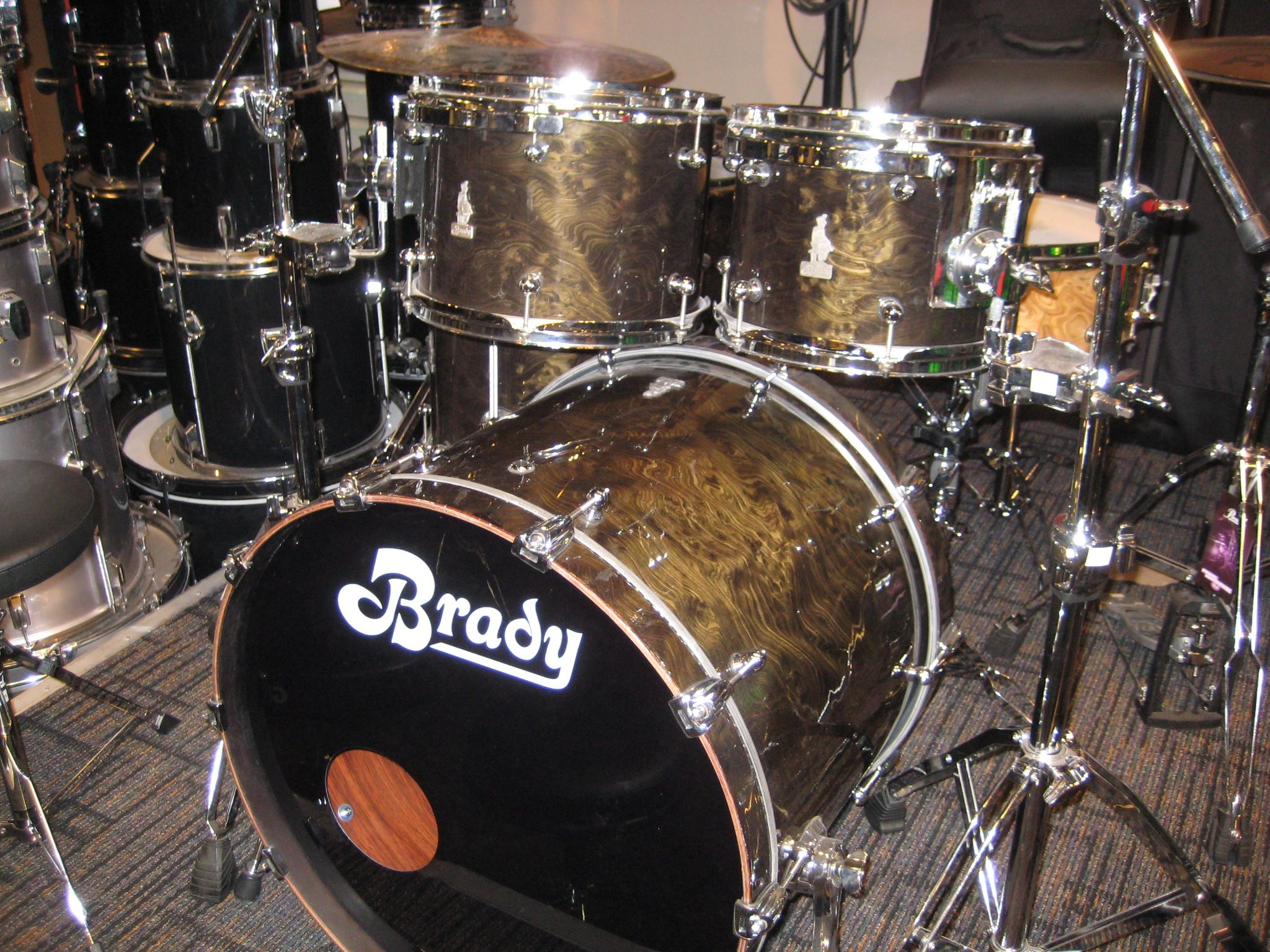 Brady Jarrah Ply Halls Creek Gloss Drum Kit At Just Drums In Toronto Canada Drum Kits Drums Drummer
