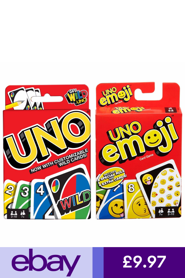Uno Card Game By Mattel New And Sealed Choose Edition Uno Card Game Card Games Flip Cards