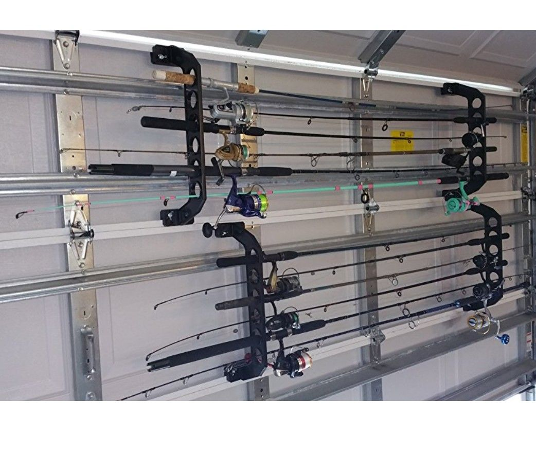 Garage Door Fishing Rod Holder Garage Ideas Pinterest Garage