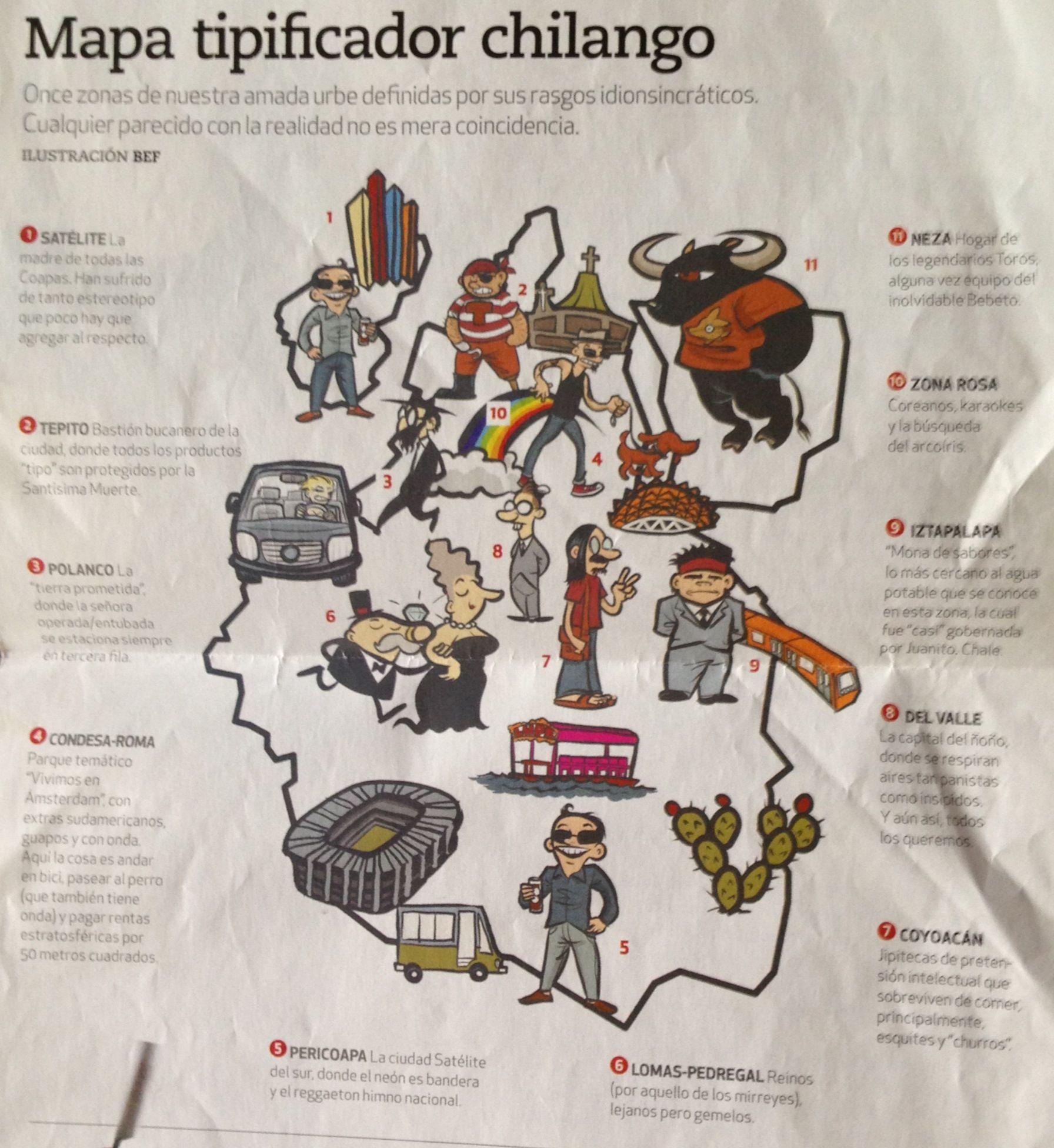 Viva Ford El Paso >> Mapa tipificador chilango Revista chilango | Funny | Funny