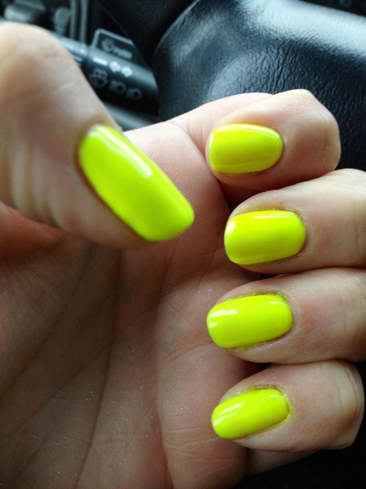 Ibd Neon Yellow Gel Polish Gel Mani Nail Polish Gel Polish
