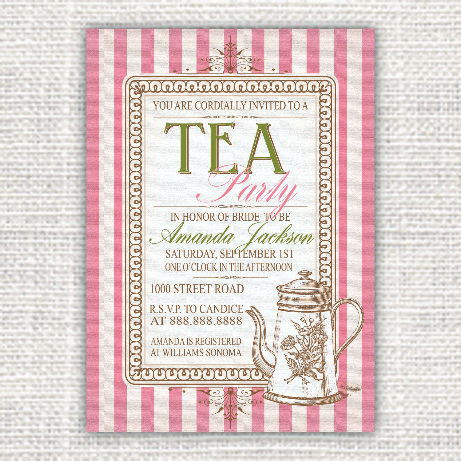 free printables mad hatter tea party Google Search – Free Tea Party Invitation Templates