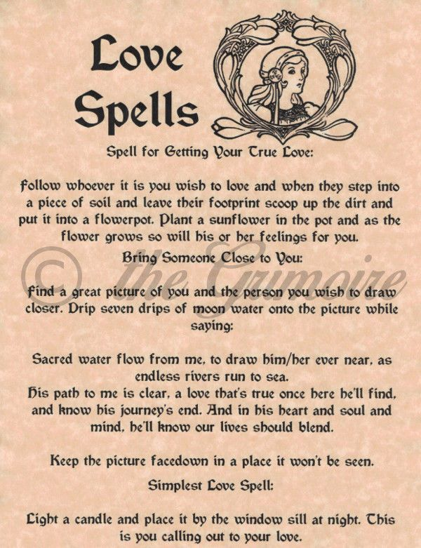 Love Spells, Book of Shadows Pages, Witchcraft, Wicca, Real