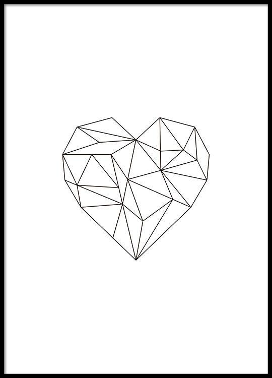 Poster Mit Geometrischen Formen Die Ein Herz Bilden Mein Haus