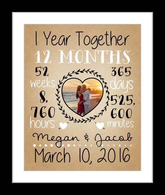 1 First Anniversary Together Dating Anniversary 1 Year 3rd Year Anniversary Gifts Paper Gifts Anniversary Personalized Anniversary Gifts