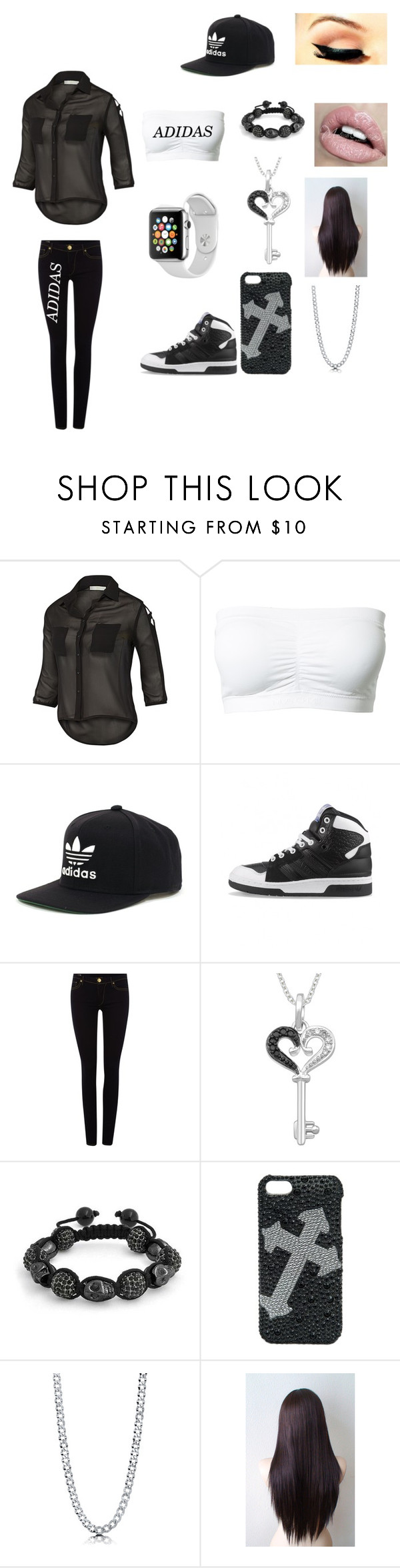 """Adidas"" by theultrafighter ❤ liked on Polyvore featuring adidas, True Religion, Samsung, Bling Jewelry, Blazin Roxx and BERRICLE"