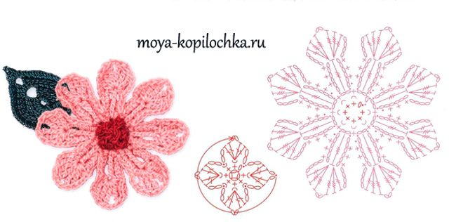100 Crochet Flowers Diagrams Part 1 Szydeko Wzory