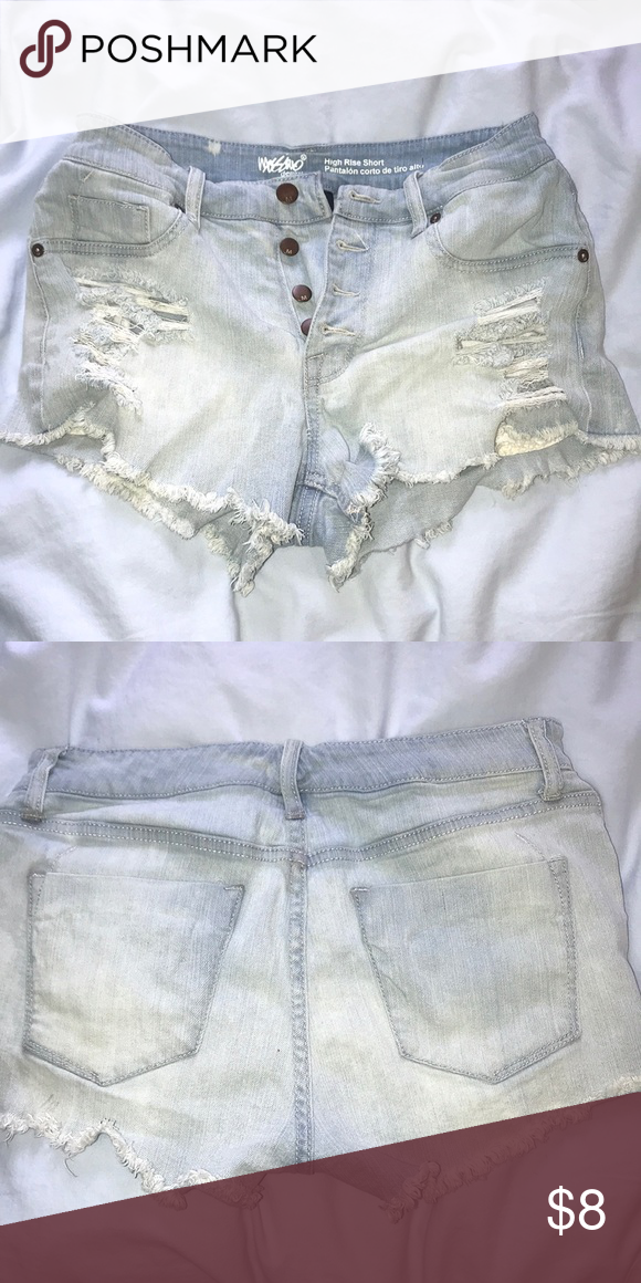 1b5597d388b25 High waisted ripped jean shorts Worn once, high waisted with several  buttons, front pockets are fake Mossimo Supply Co. Shorts Jean Shorts