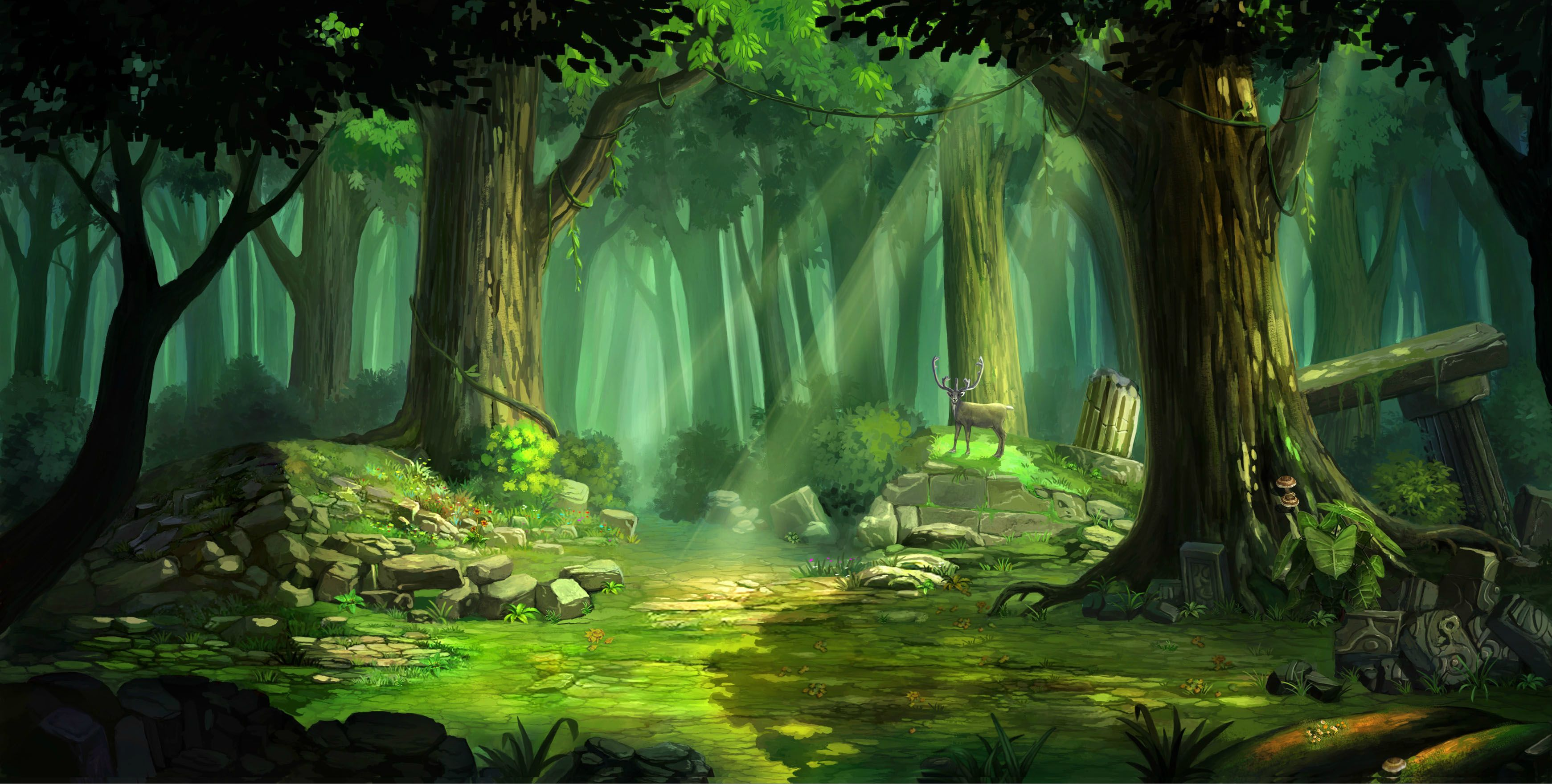 floresta anime - Pesquisa Google | desenhos | Pinterest