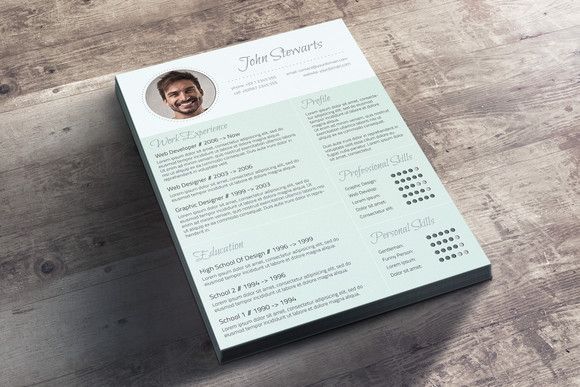 Fresh Cv  Cover Letter By Visual Impact On Creative Market