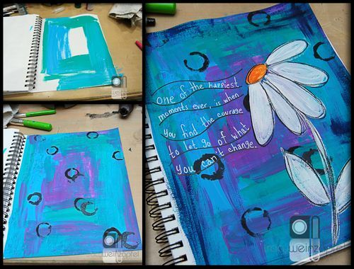 """Let It Go"" Art Journal Pages by Tracy Weinzapfel"
